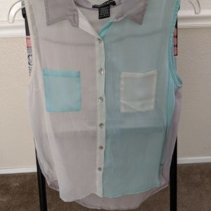 Multi Color Tank Blouse